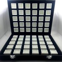 宝石ルースケース60個+オーガナイザーセット 大量 携帯用 ポータブルボックス 原石 ディスプレイ トランクショー 展示会 プロ用 業務用 黒