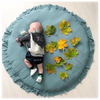 プレイマット ベビーマット サニーマット ラウンドマット 北欧風 グレー グリーン インスタ映え 大きい 赤ちゃんマット