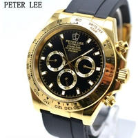 PETER LEE メンズ腕時計 機械式  自動巻き クロノグラフ 高級腕時計