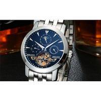 BERLIGET メンズ腕時計 機械式 自動巻き トゥールビヨン ムーンフェイズ 自動日付 防水 海外ブランド