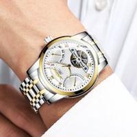 HAIQIN メンズ腕時計 機械式自動巻き 防水 トゥールビヨン 海外限定