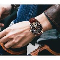AILANG メンズ腕時計 機械式 自動巻き トゥールビヨン 防水 海外限定品