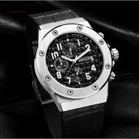 BAOGELA メンズ腕時計 クォーツ クロノグラフ 自動日付 防水 発光 海外限定品