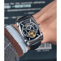 GUANQIN メンズ腕時計 機械式 自動巻き トュールビヨン ムーンフェイズ 防水 自動日付 発光 海外限定品