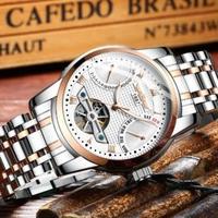 HAIQIN メンズ腕時計 機械式自動巻き トゥールビヨン トップブランド
