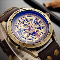 SHENHUA メンズ腕時計 機械式 自動巻き スケルトン 発光 レトロ ヴィンテージ 海外ブランド
