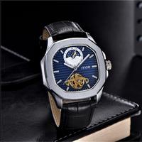 DOBROA メンズ腕時計 機械式  自動巻き 防水 トゥールビヨン ムーンフェィズ  海外限定品 人気