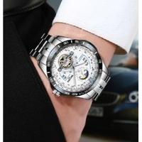 BOYZHE メンズ腕時計 トゥールビヨン ムーンフェイズ 機械式 自動巻き 防水 海外限定品 人気