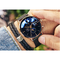 AILANG メンズ腕時計  機械式 自動巻き 防水 自動日付 耐衝撃 トゥールビヨンムーンフェイズ 海外輸入品