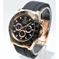 PETERLEE メンズ腕時計 機械式 自動日付 クロノグラフ 防水