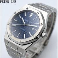 PETERLEE メンズ腕時計 機械式 自動巻き 自動日付 防水 高級腕時計