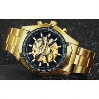 T-WINNER メンズ腕時計 機械式 自動巻き スケルトン トップブランド 海外輸入品