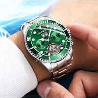 GUANQIN メンズ腕時計 機械式 自動巻き トゥールビヨン 自動日付 防水