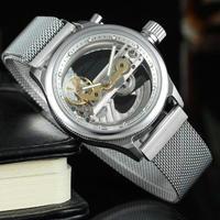 FORSINING メンズ腕時計 機械式 自動巻き スケルトン トップブランド