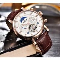 BINSSAW メンズ腕時計 機械式 自動巻き ムーンフェイズ 自動日付 海外ブランド 海外限定