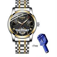 GUANQIN メンズ腕時計 防水 機械式腕時計 トゥールビヨン トップブランド