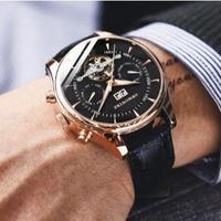 GRMONTRE メンズ腕時計 スケルトン トゥールビヨン 機械式 自動巻き 海外限定品
