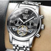 HAIQIN メンズ腕時計 機械式 自動巻き クロノグラフ トゥールビヨン 海外輸入品