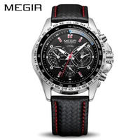 MEGIR メンズ腕時計 クォーツ 防水 発光 海外ブランド