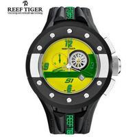 Reef Tiger メンズ腕時計 クォーツ クロノグラフ 自動日付 防水