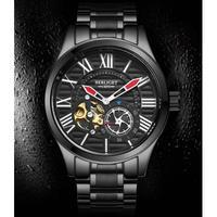 BINKADA メンズ腕時計 機械式 自動巻き トゥールビヨン 防水 高級腕時計