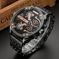 Oulm メンズ腕時計 クォーツ ビッグウォッチ ユニークデザイン 海外ブランド