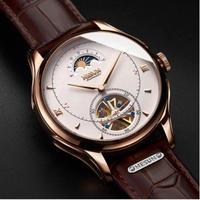Nesun メンズ腕時計 機械式 自動巻き トゥールビヨン 防水 スケルトン ムーンフェイズ 海外ブランド 人気
