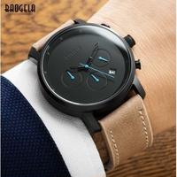 Baogela メンズ腕時計 クロノグラフ クォーツ 防水 レザー 海外ブランド 人気