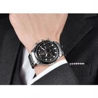 BOYZHE メンズ腕時計 機械式 自動巻き クロノグラフ 防水  メンズファッション 人気 海外ブランド