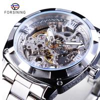 FORSINING メンズ腕時計 機械式 自動巻き 防水 発光針 スケルトン 海外ブランド