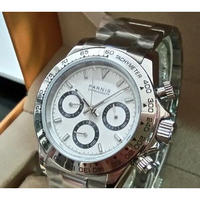 Parnis メンズ腕時計 クォーツ クロノグラフ 防水 高級腕時計