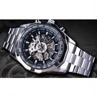 FORSINING メンズ腕時計 機械式 メカニカルハンドウィンド スケルトン 海外ブランド 人気