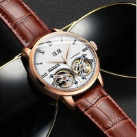 HAIQIN メンズ腕時計 機械式 自動巻き トゥールビヨン 防水 海外限定品