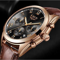 LIGE メンズ腕時計 クオーツ式 防水 海外輸入品 海外ブランド