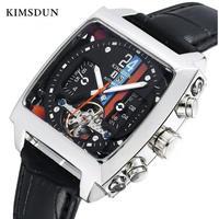 KIMSDUN メンズ腕時計 機械式 自動巻き トゥールビヨン 防水 海外ブランド