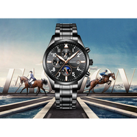 AILANGメンズ腕時計  機械式 自動巻き  防水  発光針 ムーンフェイズ 海外ブランド