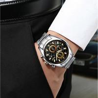 BOYZHE メンズ腕時計 機械式 自動巻き 自動日付 防水 高級腕時計