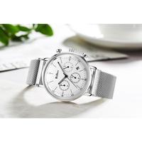 BIDEN メンズ腕時計 クォーツ クロノグラフ 発光 防水 海外ブランド
