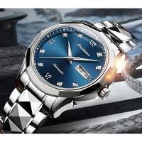 JIN SHI DUN メンズ腕時計 機械式 自動巻き 自動日付 防水 発光 高級腕時計