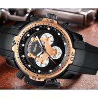 BIDEN クォーツ クロノグラフ 防水 高級腕時計