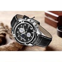 MEGIR メンズ腕時計 クオーツ クロノグラフ 防水 カレンダー  海外限定 日本未発売 人気