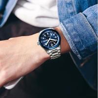 CARNIVAL メンズ腕時計 クォーツ 自動日付 防水 発光 高級腕時計