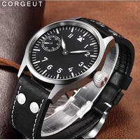 Corgeut メンズ腕時計 機械式 防水 発光 海外輸入品 人気