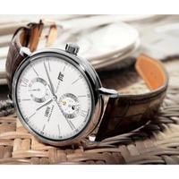 LOBINNI メンズ腕時計 機械式 自動巻き ムーンフェイズ 自動日付 防水 高級腕時計