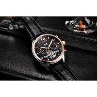 BINSSAW メンズ腕時計 機械式 自動巻き トゥールビヨン 自動日付 防水 高級腕時計