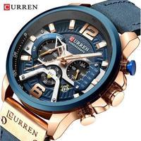 CURREN メンズ腕時計 クォーツ クロノグラフ 自動日付 防水 海外ブランド