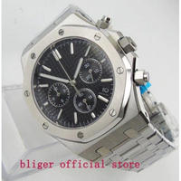 BLIGER メンズ腕時計 クォーツ クロノグラフ 自動日付 防水 高級腕時計