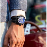 Reef Tiger トゥールビヨン 自動巻き 機械式 メンズ腕時計 ビッグスポーツウォッチ トップブランド