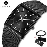 WWOOR メンズ腕時計 クォーツ 自動日付 防水 シンプル 海外ブランド