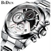 BIDEN メンズ腕時計 クォーツ クロノグラフ 防水 メンズファッション 日本未入荷